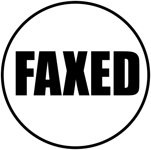 FAXED Round Border Stock Stamp Imprint