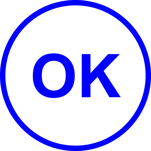 OK Round Border Stock Stamp