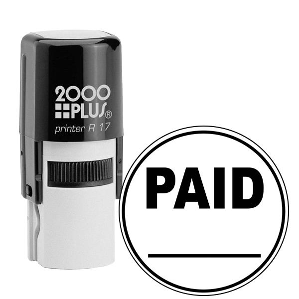 PAID Round Stock Stamp