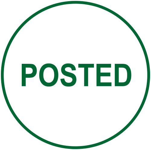 POSTED Round Border Stock Stamp