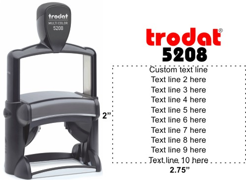 Trodat Professional 5208 | Ideal 6800 Self-Inking Text Stamp