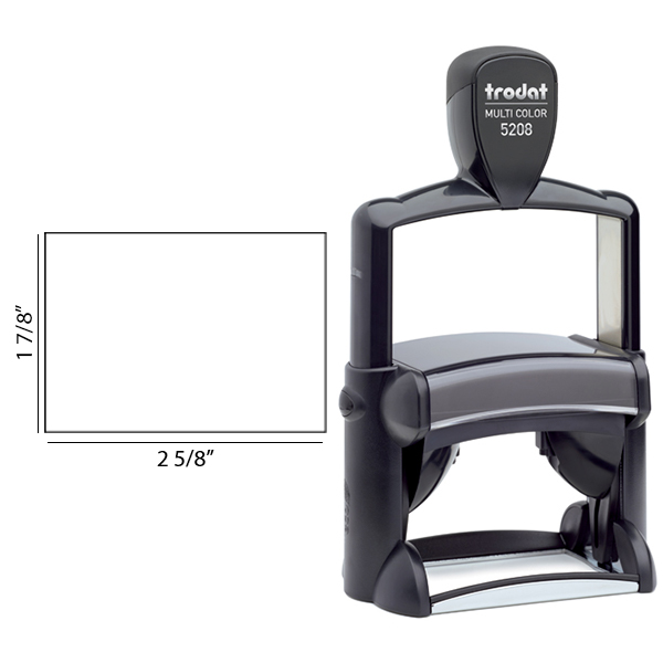 Trodat Professional 5208 Custom Text Stamp Body and Imprint Size