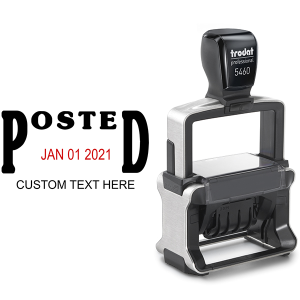 Trodat Professional Posted Date Stamp Body and Imprint