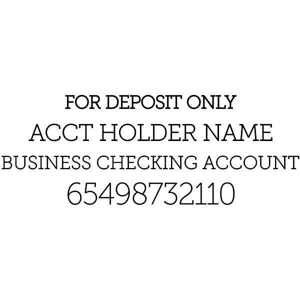 For Deposit Trodat 5205