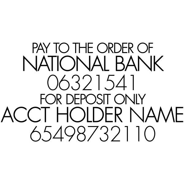 Trodat Professional 5211 For Deposit Stamp