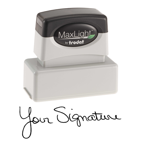 Pre-Inked Signature Stamp Body and Imprint