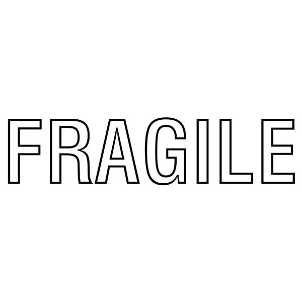 Fragile Stock Stamp Imprint