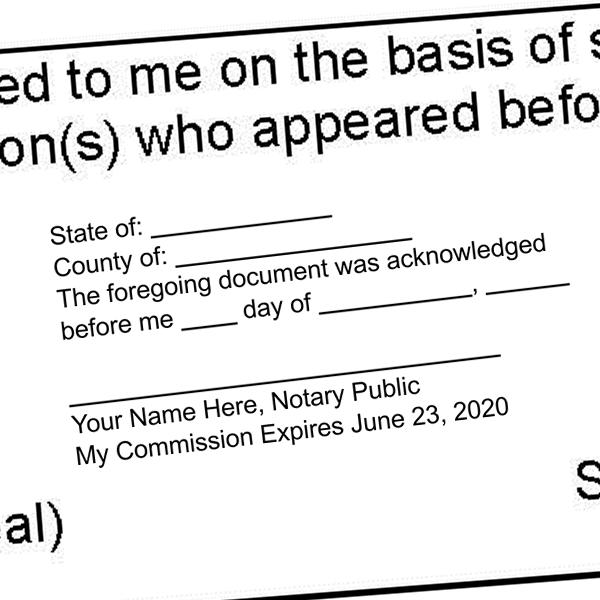 Acknowledgement Stamp for Affidavit Notary Public Imprint