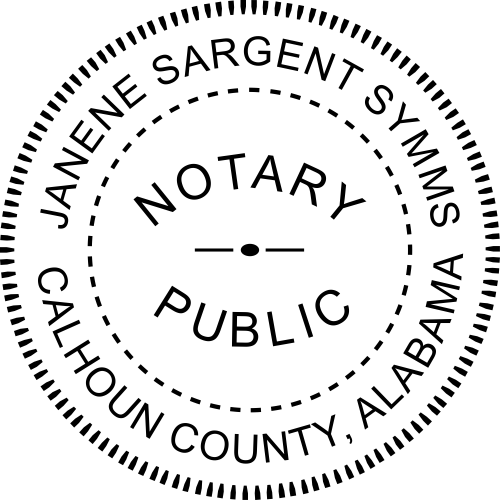 Alabama Notary Seal Embosser Imprint