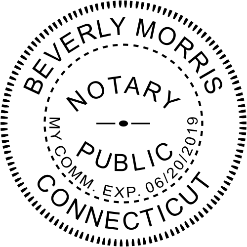 Connecticut Notary Round Stamp Imprint