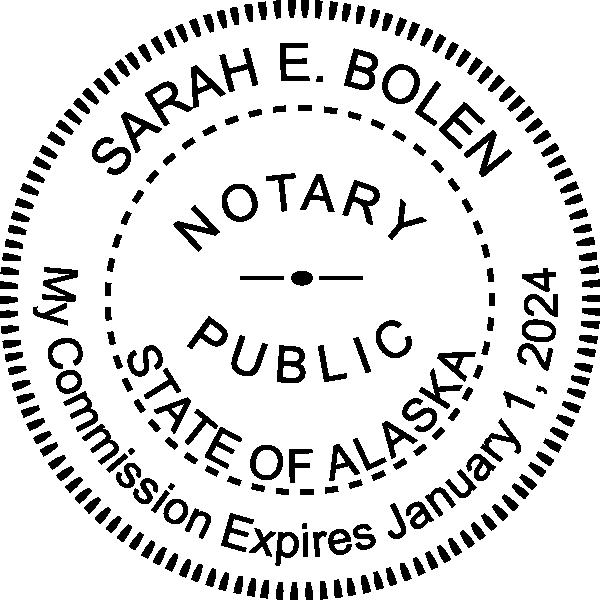 Alaska Notary Round Seal Embosser Imprint