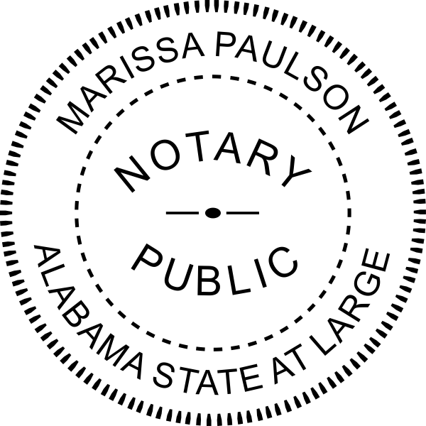 Alabama State at Large Notary Seal Embosser Imprint
