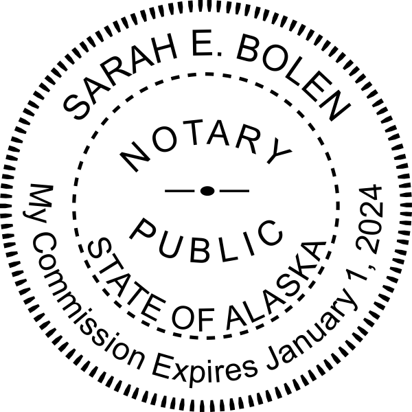 Alaska Notary Pink Seal Embosser - Round Imprint