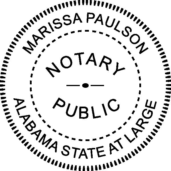 Alabama Notary Pink Seal Embosser - Round Imprint