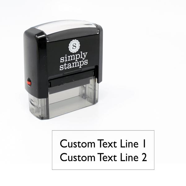 2 Line Custom Self-Inking Stamp