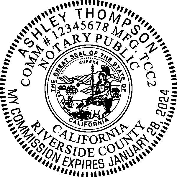California Notary Pink Seal Embosser - Round Imprint