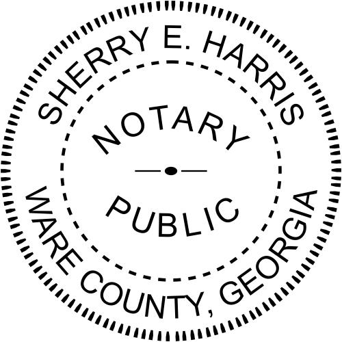 Georgia Notary Public Round Stamp Imprint