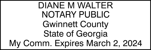 Georgia Rectangular Notary Seal