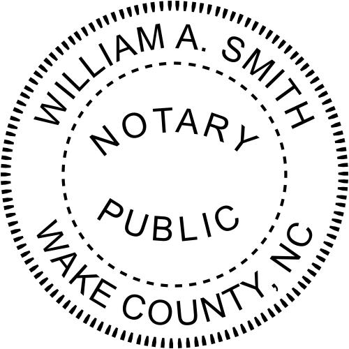 North Carolina Notary Round Imprint