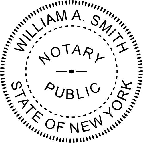 New York Notary Round  Imprint