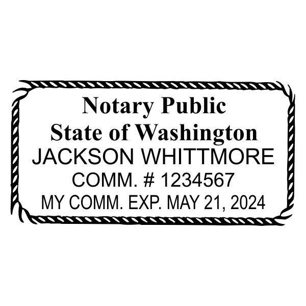 Washington State Notary Rectangle Imprint