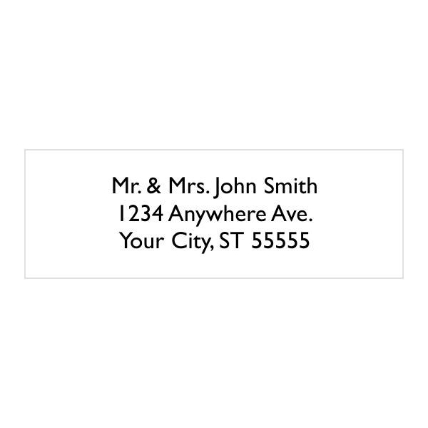 3 Line Custom Address Stamp