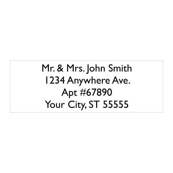 4 Line Custom Address Stamp