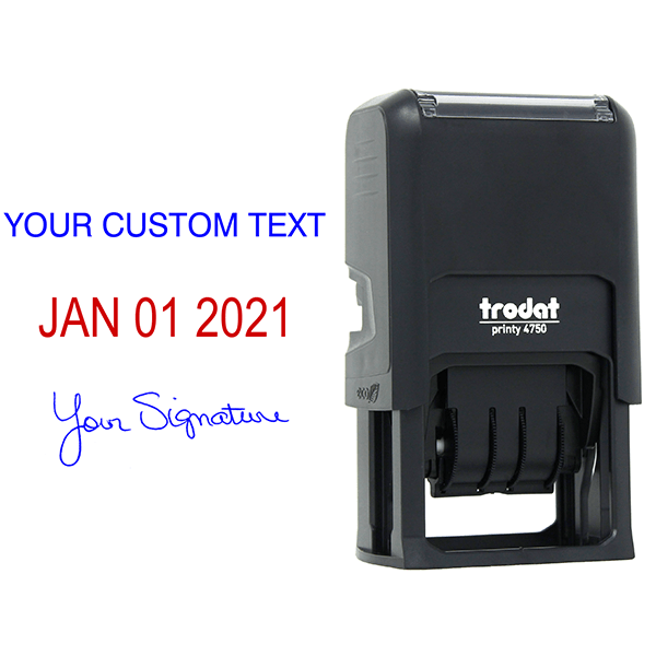 Self-Inking Dater with Signature and Custom Text Body and Design