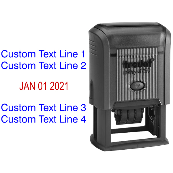 2 Top Lines 2 Bottom Date Stamp Body and Design