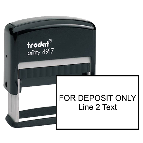 2 Line Deposit Stamp