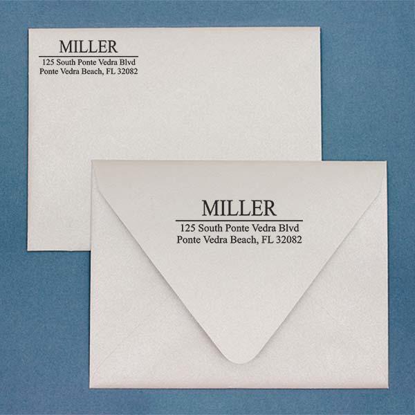 Last Name Address Stamp Imprint Example