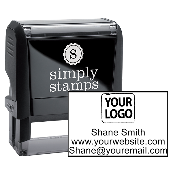 Self-Inking Custom Logo Stamp with Text