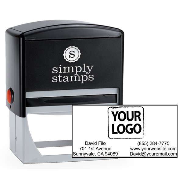 Rectangle Logo Stamp with Contact Information