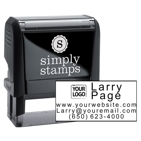 Contact Information Stamp with Logo
