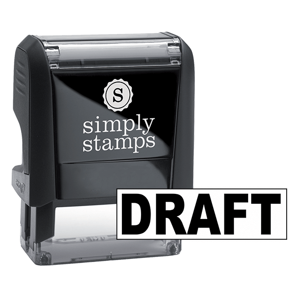 Draft Bold Stock Stamp