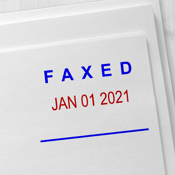 Faxed Date Stamp Imprint Example