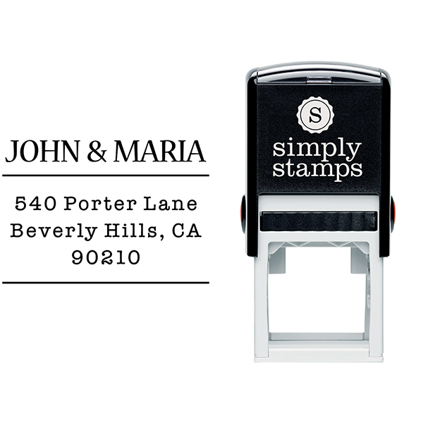 Sleek Type Address Stamp Body and Design
