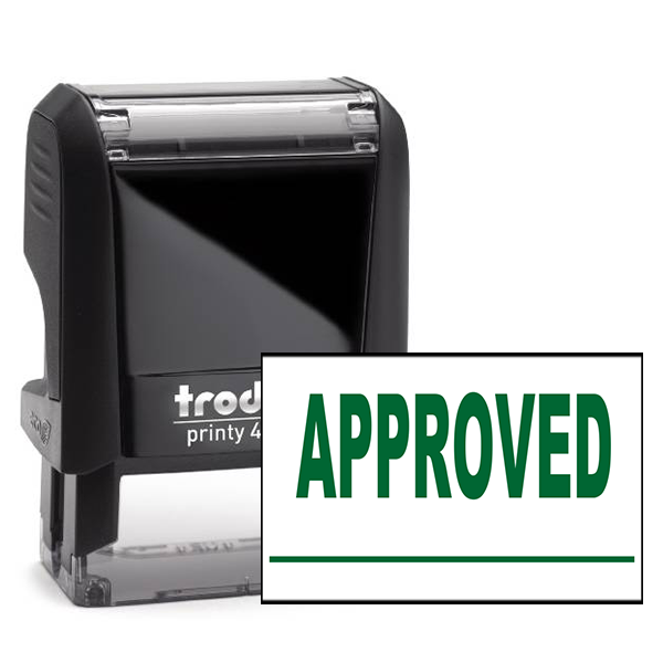 Approved Underlined Stock Stamp