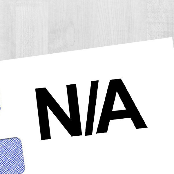 N/A Stock Stamp Imprint Example