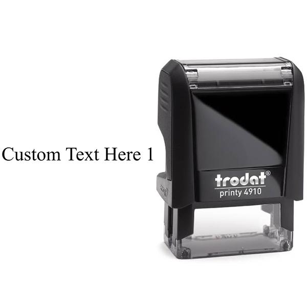 Trodat 4910 - 1 Line Stamp Body and Design