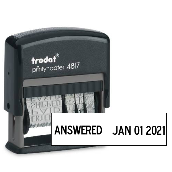 Trodat Dial-A-Phrase Dater With 12 Phrases