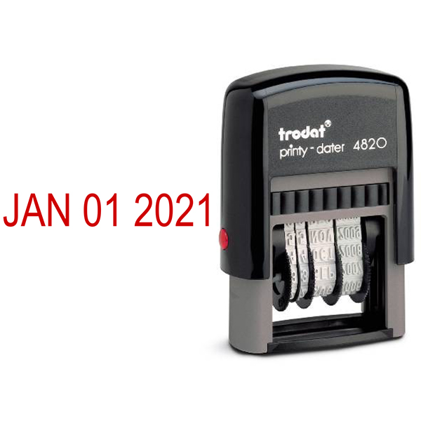 Trodat 4820 Dater Stamp and Imprint Example
