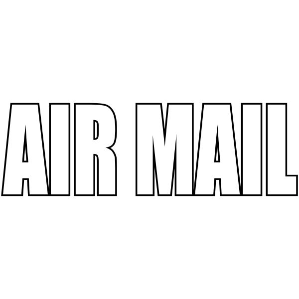 Airmail - Stock Stamp Imprint