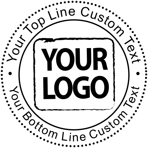 Custom Rubber Stamp - Round with Logo