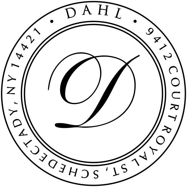 Dahl Round Stamp