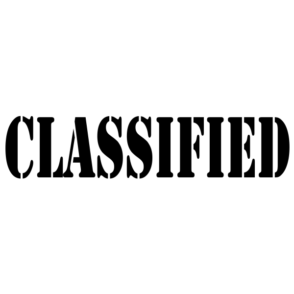 Classified Stock Stamp Imprint