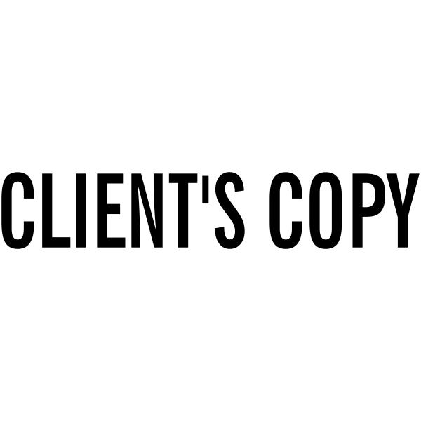 Client's Copy Stock Stamp Imprint