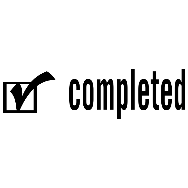 Completed Checkmark Stock Stamp Imprint