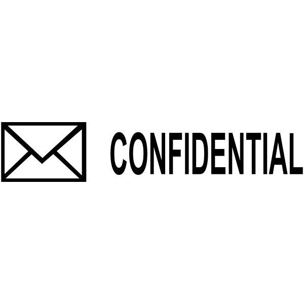 CONFIDENTIAL Mail Stock Stamp Imprint