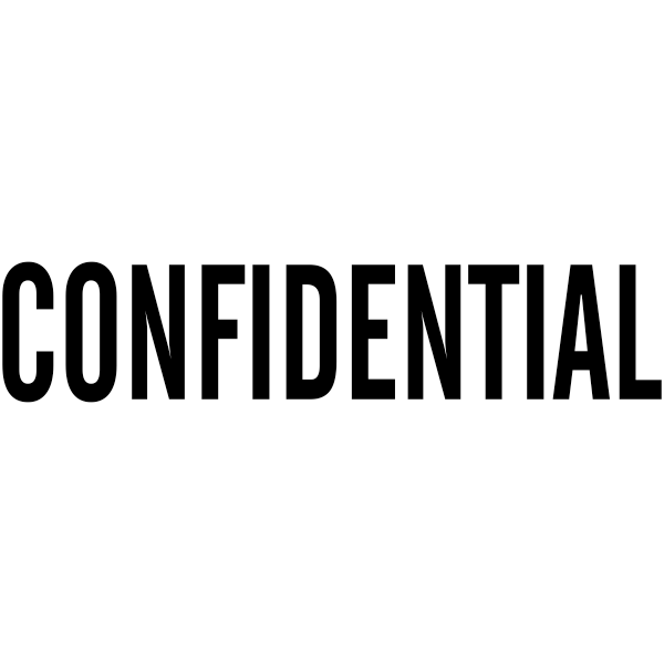 CONFIDENTIAL solid letter Stock Stamp Imprint